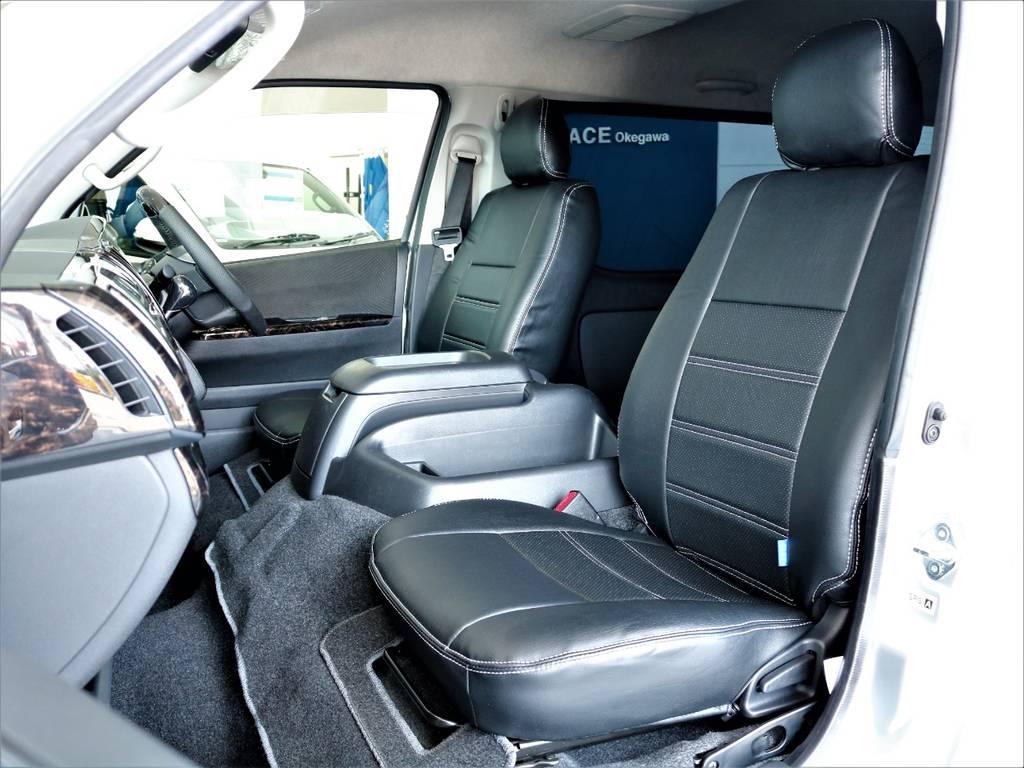 FLEXオリジナル全席シートカバー! | トヨタ ハイエースバン 2.7 スーパーGL ワイド ロング ミドルルーフ 4WD