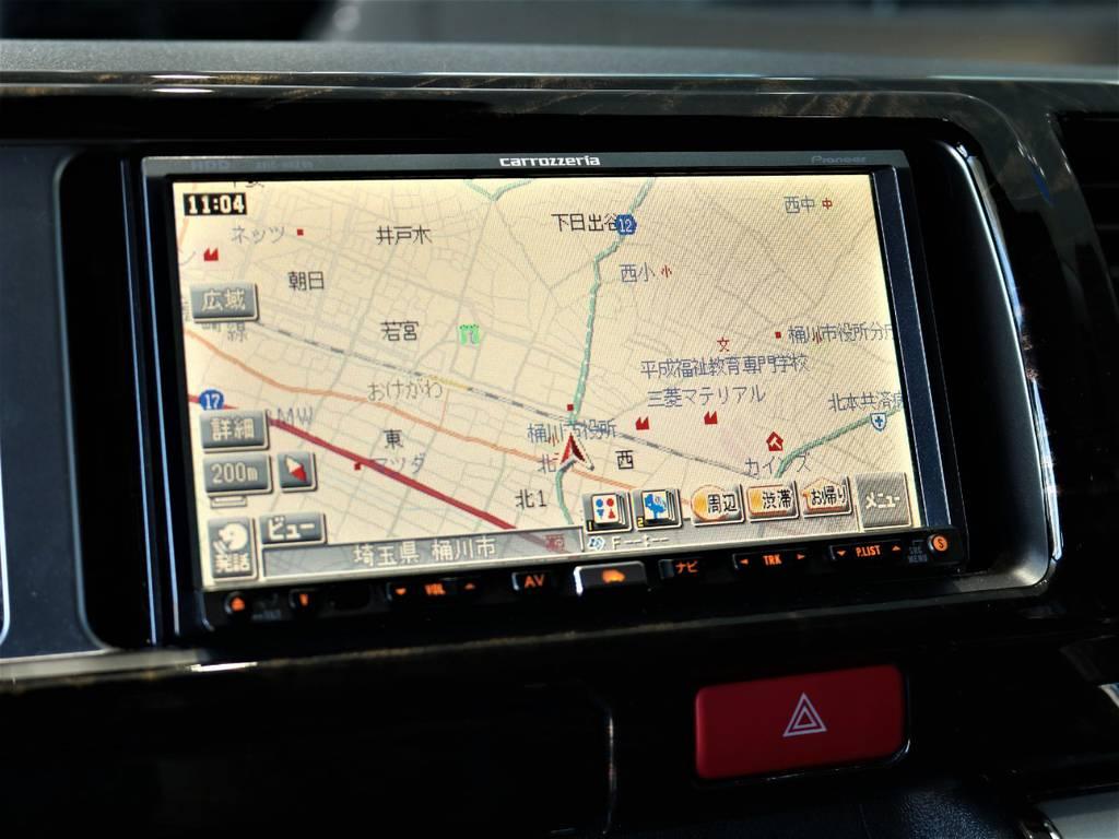 カロッツェリアHDDナビ!   トヨタ ハイエースバン 2.7 スーパーGL ワイド ロング ミドルルーフ 4WD