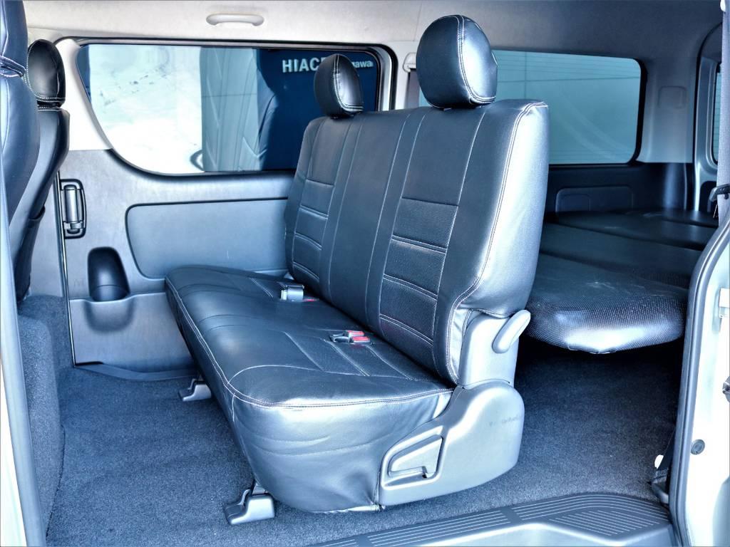 セカンドシートは3人定員です!   トヨタ ハイエースバン 2.7 スーパーGL ワイド ロング ミドルルーフ 4WD