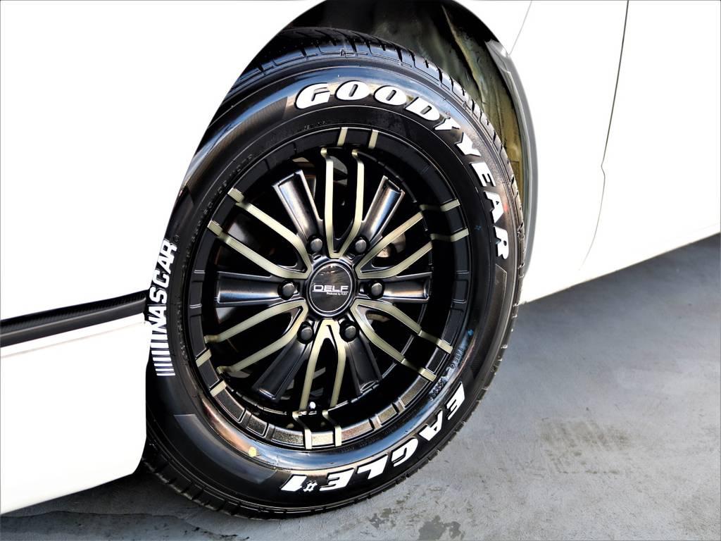 FLEXオリジナルDELF01 16インチアルミホイール! グッドイヤーイーグルナスカータイヤ!