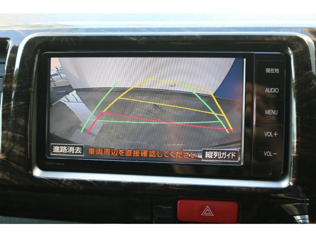 バックカメラ連動ナビキット装着済みで、駐車時も安心ですね!