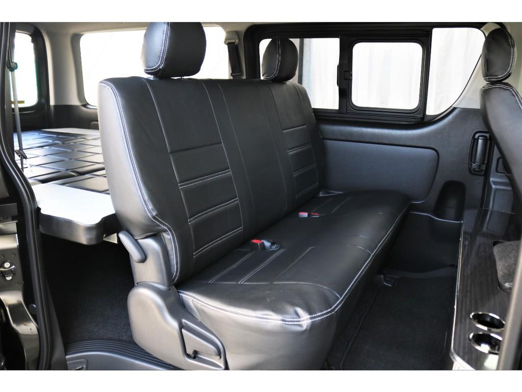 後部座席開口部!広々としたシートとなっているためリラックスした空間でドライブも楽しめます!