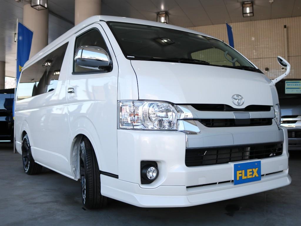 FLEXオリジナルDelfinoLineフロントスポイラ-!フェンダーミラー同色塗装☆