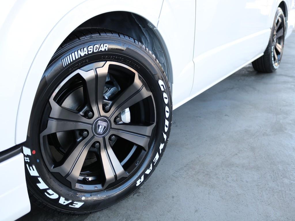 FLEXオリジナルDelfinoLineオーバーフェンダー!オリジナルカラーバルベロ17インチアルミホイール!グッドイヤーイーグルナスカータイヤ!