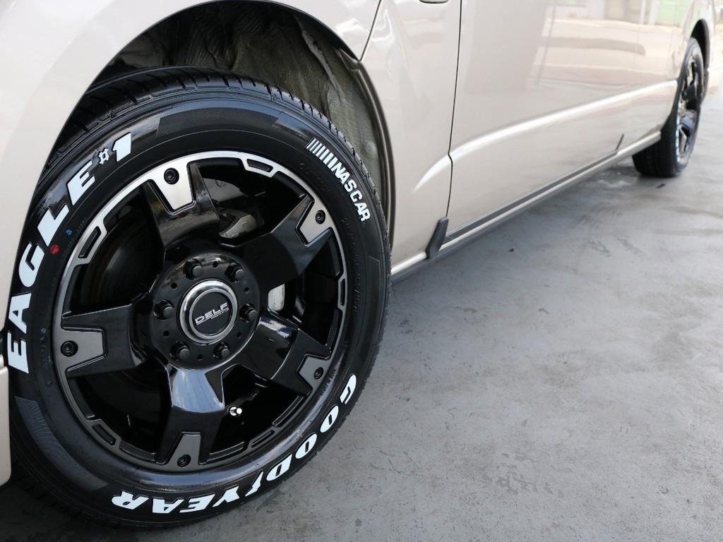 新品!FLEXオリジナルDELF03 17インチアルミホイール!グッドイヤーイーグルナスカータイヤ!