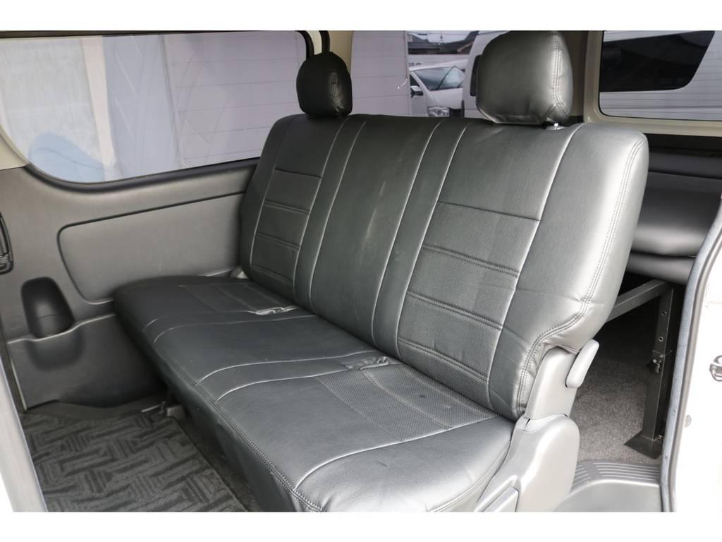 後席シートにも新品でシートカバーを装着!