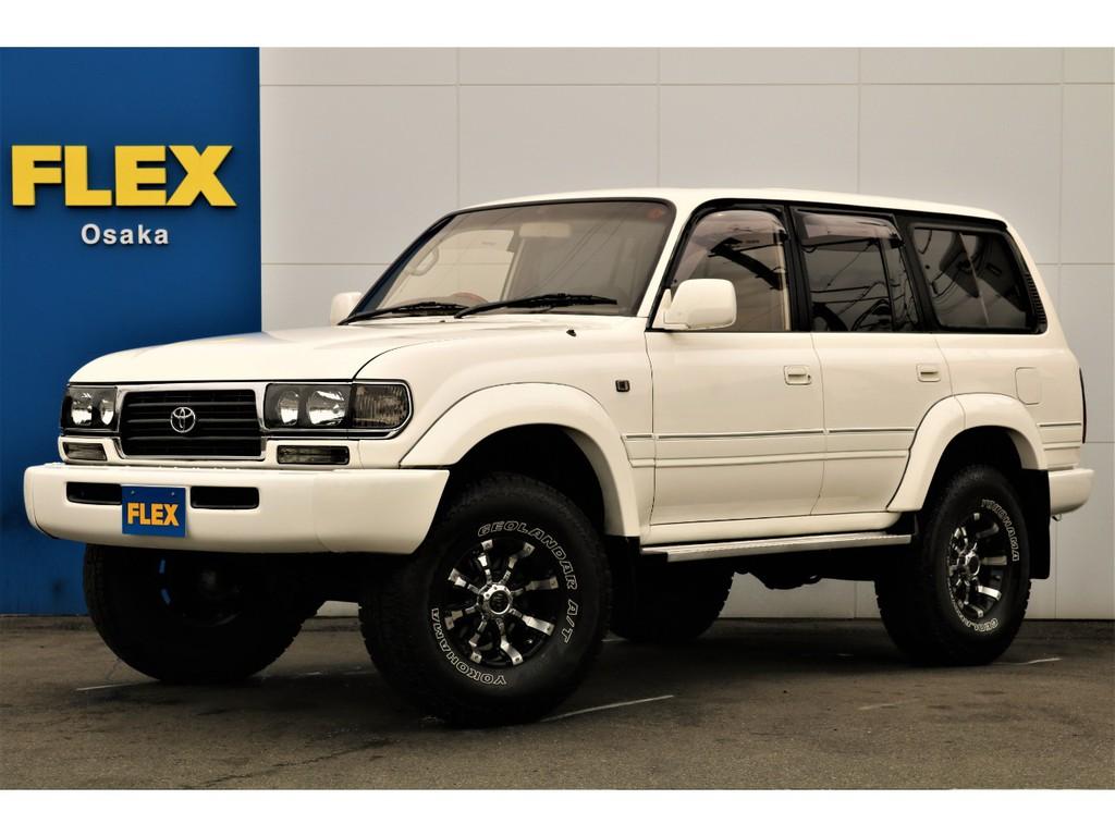 大人気、ランクル80のカスタム済み車両がお客様からの直接買い取りにより特別プライスにてご提供!!