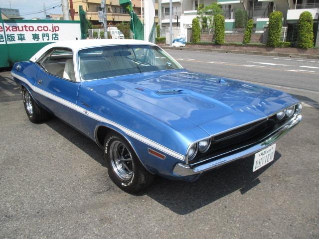 1970年式ダッジチャレンジャー!マッチングカラーのブルーメタリックにホワイト内装が素敵!パワフル7.2リッター440マグナムエンジン!