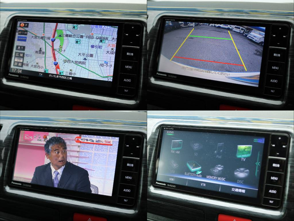 パナソニックフルセグナビ装着!Bluetoothオーディオにも対応!ガイド付きバックカメラも装着済み♪ | トヨタ レジアスエース 2.0 スーパーGL ロングボディ Ⅲ型フルエアロ WALD17インチ