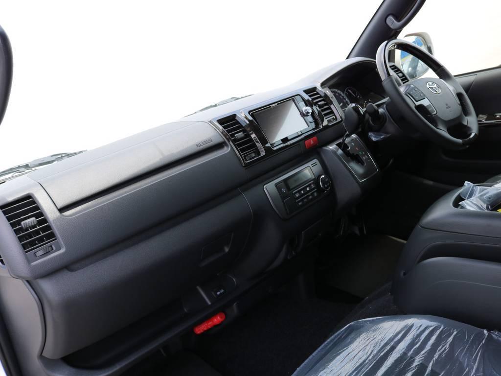 ダークプライム専用のインテリアです♪ | トヨタ ハイエースバン 2.8 スーパーGL ダークプライムⅡ ロングボディ ディーゼルターボ