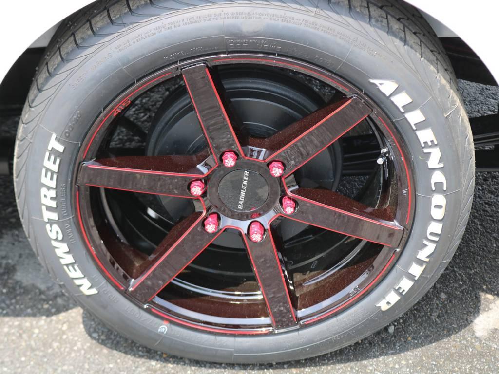 15コブラ SD6クリアレッド18インチアルミ 8J タイヤは新作18インチホワイトレターバン専用です! | トヨタ ハイエースバン 2.8 スーパーGL ダークプライムⅡ ロングボディ ディーゼルターボ