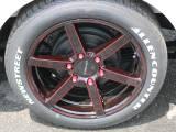 15コブラ SD6クリアレッド18インチアルミ 8J タイヤは新作18インチホワイトレターバン専用です!