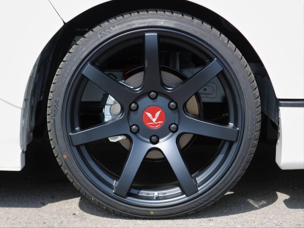 カミュラ20インチアルミホイール! | トヨタ ハイエース 2.7 GL ロング ミドルルーフ ギブソンフルエアロ