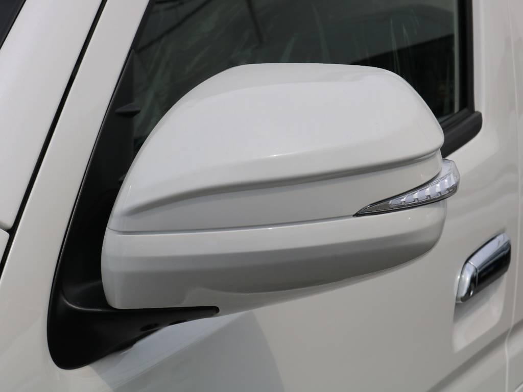 最近流行りのAVEST LEDウィンカーミラーシューティングタイプ♪ | トヨタ ハイエースバン 2.8 スーパーGL ダークプライムⅡ ロングボディ ディーゼルターボ 415コブラコンプリート TSS付