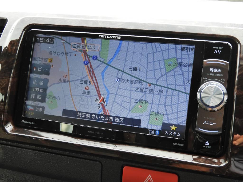 フルセグSDナビは走行中視聴、Bluetooth接続など便利な機能盛りだくさん♪