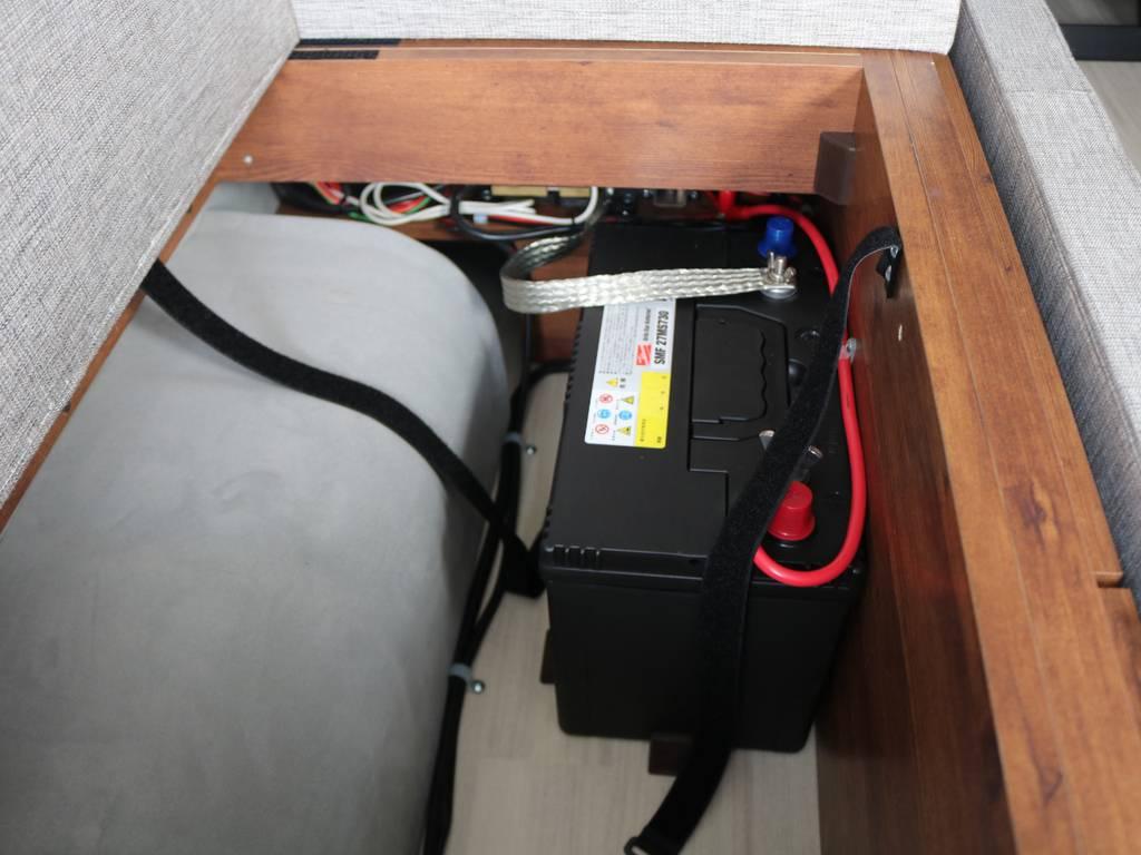 サブバッテリーは収納済みなので場所を取りません!