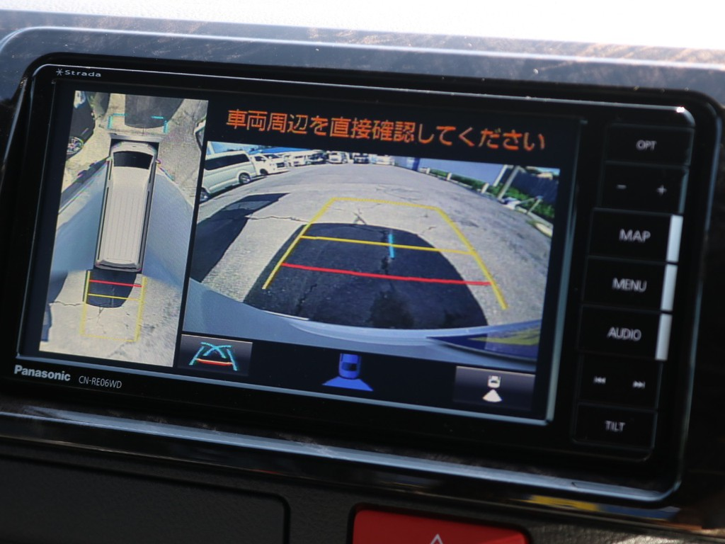 駐車もお任せ!新型より装着可能となったパノラミックビューモニターをナビと連動施工♪