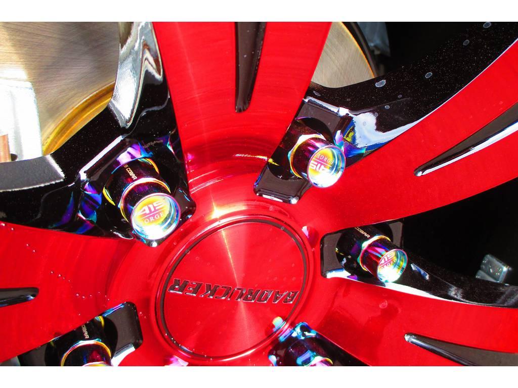ナットにもこだわりが!こちらのナット鍛造ナットの415ロゴ入りです!結構な価格ですが惜しまず装着!!! | トヨタ ハイエースバン 2.0 スーパーGL ロング 415コブラフルコンプリート車
