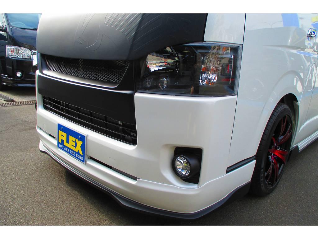 ヘッドライトはインナーブラック施工済み♪インナーブラックが入ると印象が全然違いますねっ♪シャープになりますねっ♪ | トヨタ ハイエースバン 2.0 スーパーGL ロング 415コブラフルコンプリート車