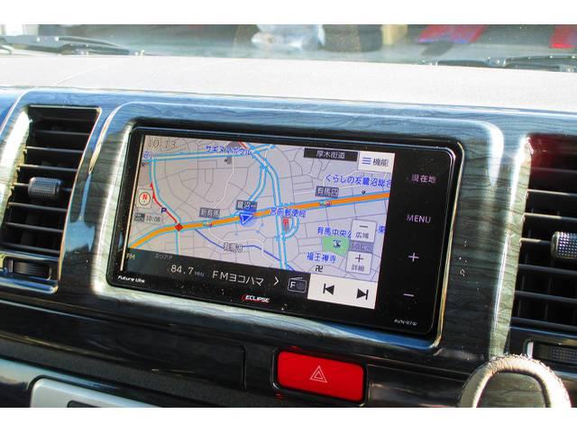 搭載されているナビはイクリプス製7型ワイド♪平面パネルで画面の美しさが違いますねっ♪ジャストフィットしてます!買うと高いナビが車両価格に含まれてるのもうれしいですねっ♪