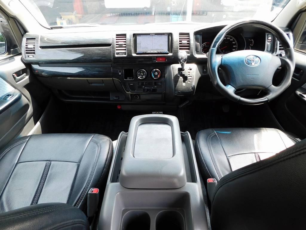 広々室内はハイエースの魅力ですねっ!座面も高く見晴らしもグッドです♪室内もキレイですよっ♪ | トヨタ ハイエースバン 2.0 スーパーGL ロング 買取直販車