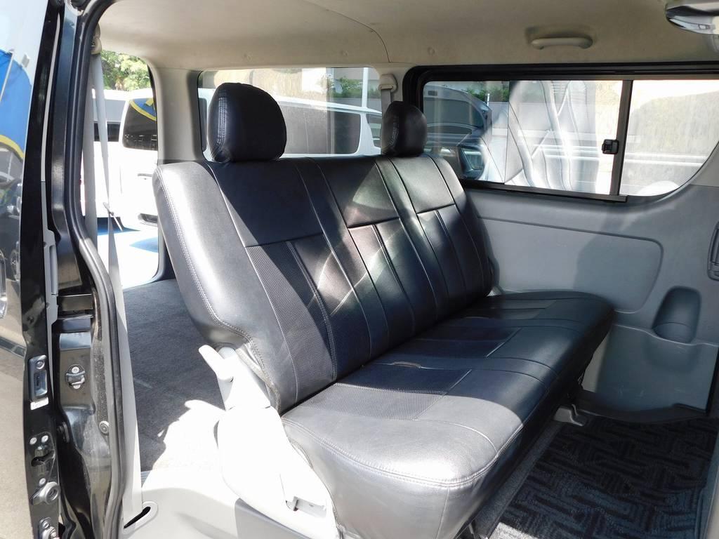ハイエースカスタムには欠かせない黒革調シートカバーももちろん付いてます!!! | トヨタ ハイエースバン 2.0 スーパーGL ロング 買取直販車