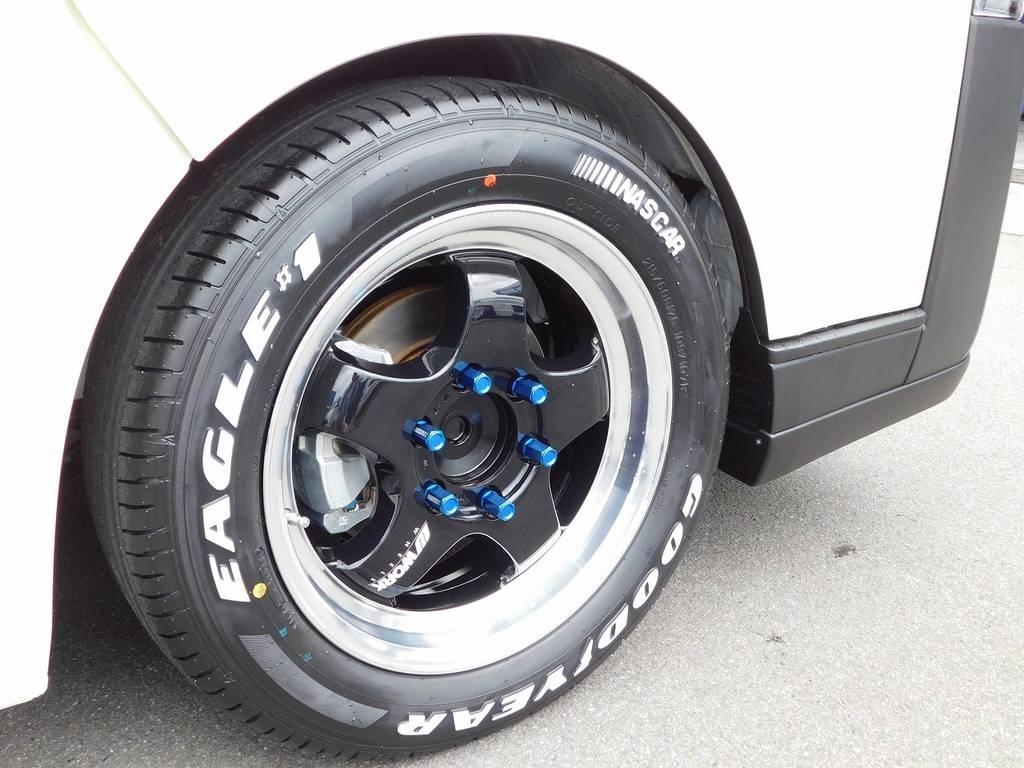 足元をキメるのは人気のWORK製S1HC・17インチ!スポーティで深リム!言うことありませんねっ♪ | トヨタ ハイエースバン 2.0 DX ロング 男気仕様七号機