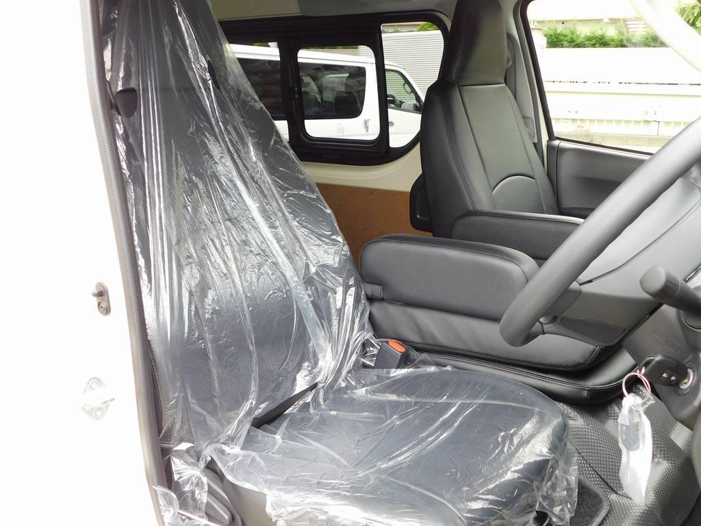 ハイエースカスタムには欠かせないシートカバーももちろん装着済み♪高級感がグっとでますねっ♪ | トヨタ ハイエースバン 2.0 DX ロング 男気仕様七号機