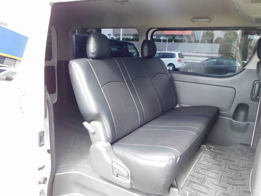 セカンドシートにももちろん装着♪高級感がグッとアップしますねっ♪ | トヨタ ハイエースバン 2.0 スーパーGL ロング カスタムパッケージ