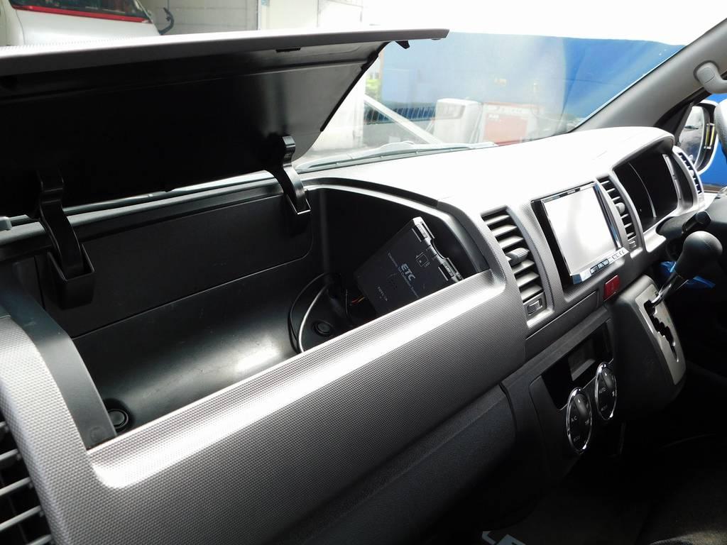 ETCももちろん搭載されてます!小物入れもあると大変便利ですよっ!!! | トヨタ ハイエースバン 2.0 スーパーGL ロング カスタムパッケージ