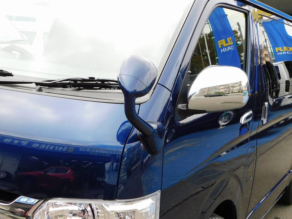 ガッツミラーは同色塗装済み♪細かい所ですが印象が全然違いますねっ♪ | トヨタ ハイエースバン 2.0 スーパーGL ロング ライトカスタムパッケージ