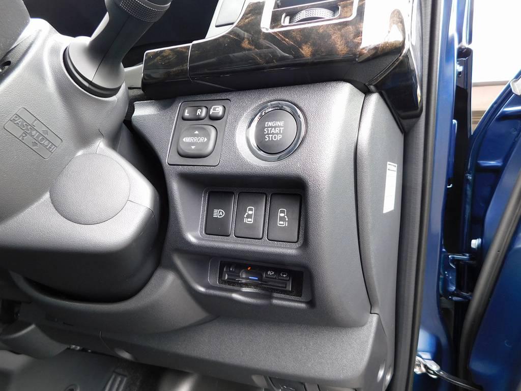 もちろんETCも装着済み!純正のように美しくインストール♪隙間の処理も抜かりはございませんよっ♪ | トヨタ ハイエースバン 2.0 スーパーGL ロング ライトカスタムパッケージ