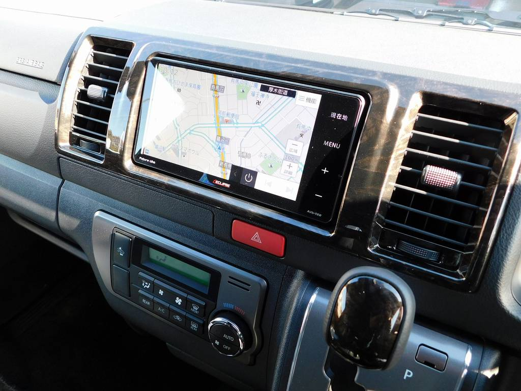 ナビはイクリプス製をインストール♪車両価格に含まれていますので追加で頂く事はございません!!! | トヨタ ハイエースバン 2.0 スーパーGL ダークプライムⅡ ロングボディ 415コブラフルコンプリート車
