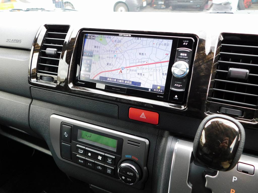 搭載されているナビはカロッツェリア製!見やすさと使いやすさが人気のナビ♪車両価格に含まれてますので追加で頂く事は御座いません♪ | トヨタ ハイエースバン 2.0 スーパーGL ダークプライムⅡ ロングボディ スタイリッシュカスタムパッケージ