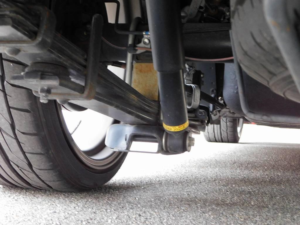 ローダウンもしっかりされてますよっ♪ | トヨタ ハイエース 2.7 GL ロング ミドルルーフ 漆黒の3型ワゴンカスタム
