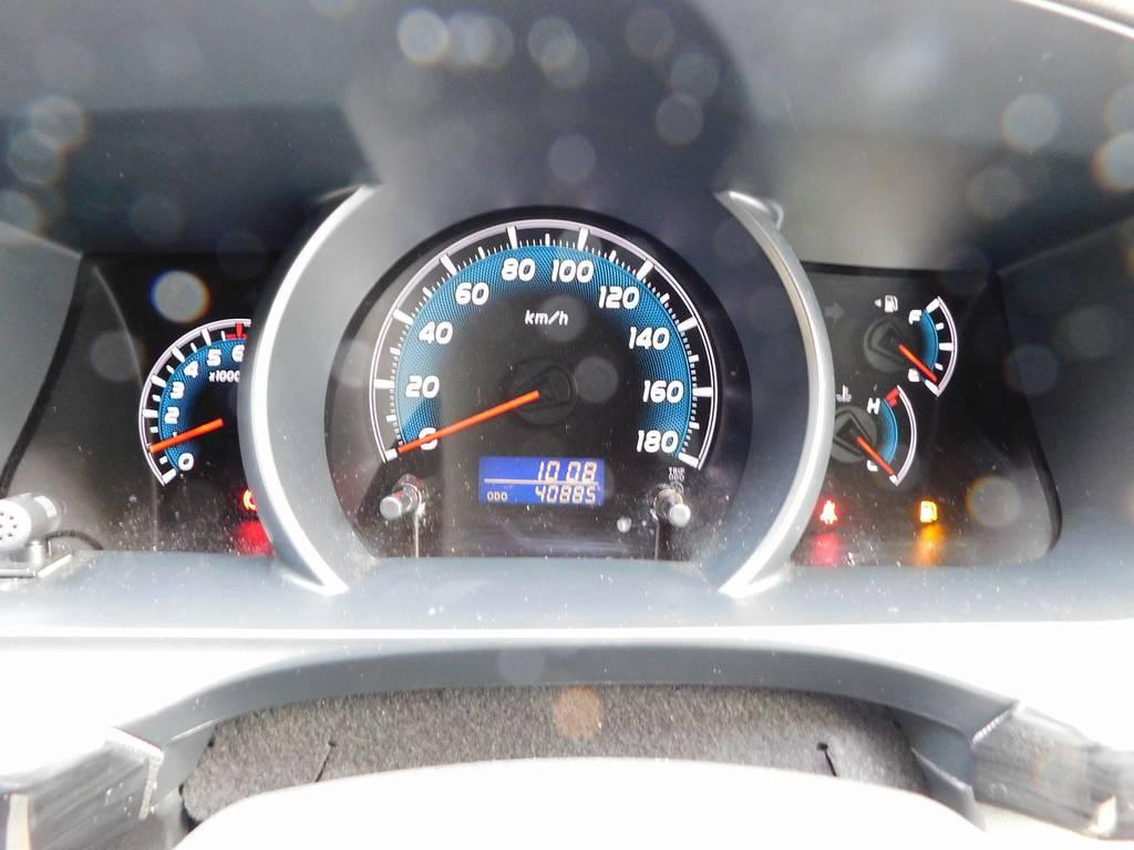 走行距離もまだまだこれからの4万キロ台です♪ | トヨタ ハイエース 2.7 GL ロング ミドルルーフ 漆黒の3型ワゴンカスタム