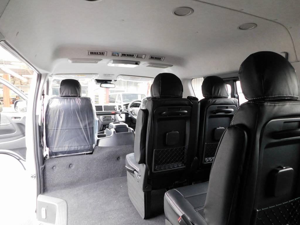 ゆったりと乗れる室内はハイエースの魅力の一つですねっ♪ | トヨタ ハイエース 2.7 GL ロング ミドルルーフ 4WD アドベンチャーカスタム