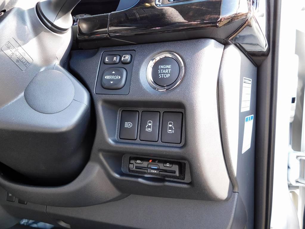 ETCは美しくインストール!純正のようですねっ♪隙間の処理も抜かり無しです!余談ですが音声案内の声優さんはタッチの浅倉みなみちゃんの声優さんです♪ | トヨタ ハイエースバン 2.8 スーパーGL ロング ディーゼルターボ ドラレコパッケージ車