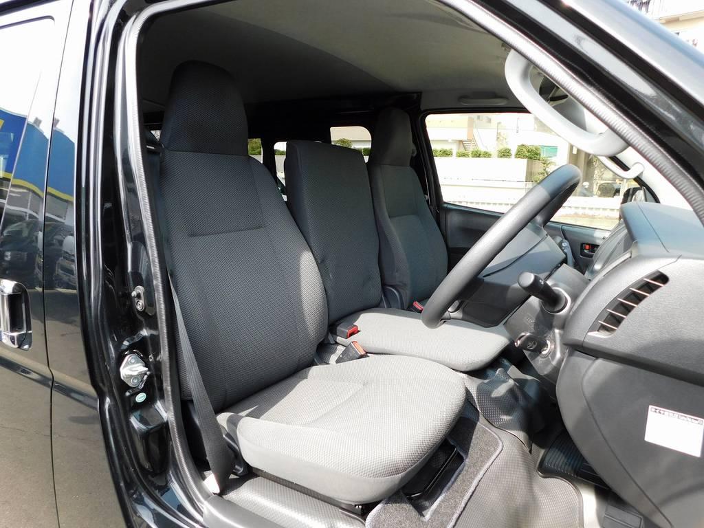 シートの状態も良いです!コゲやヤブレはいっさい御座いません♪ | トヨタ ハイエースバン 3.0 DX ロング ジャストロー GLパッケージ ディーゼルターボ ナビパッケージ車