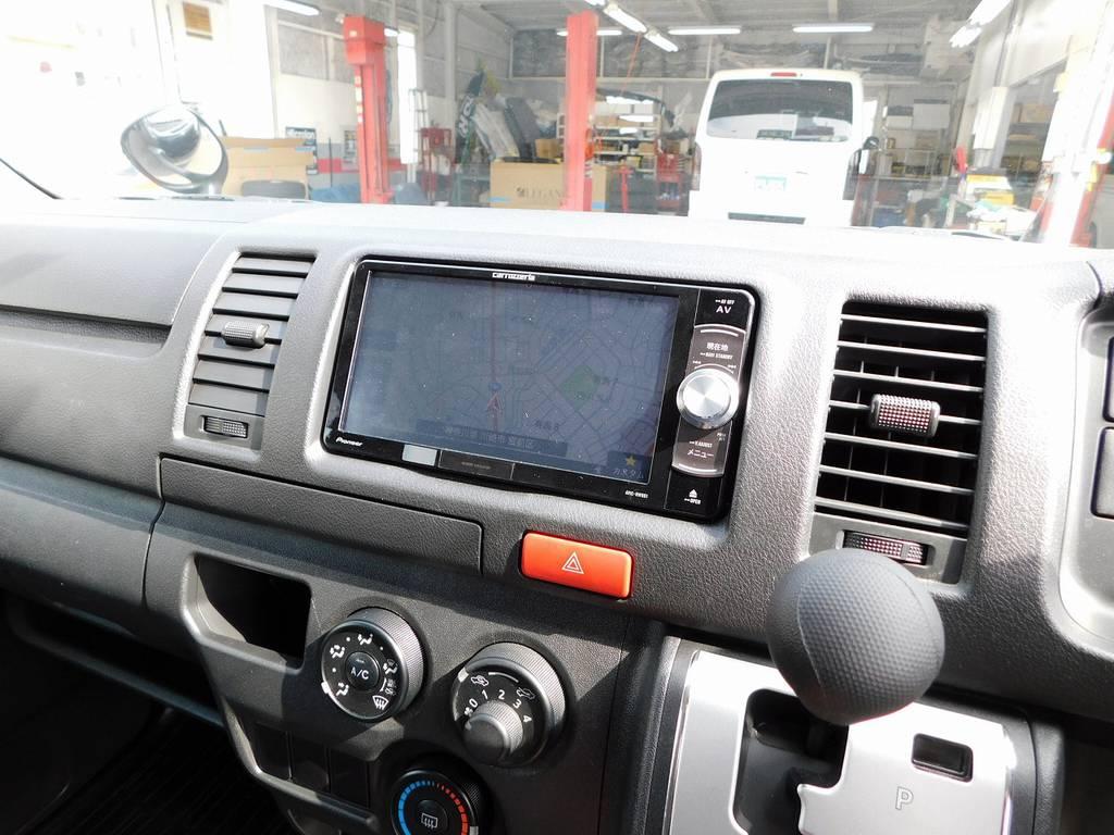 ナビはカロッツェリアの新品をインストール♪今どきナビは当たり前の装備ですねっ!!! | トヨタ ハイエースバン 3.0 DX ロング ジャストロー GLパッケージ ディーゼルターボ ナビパッケージ車