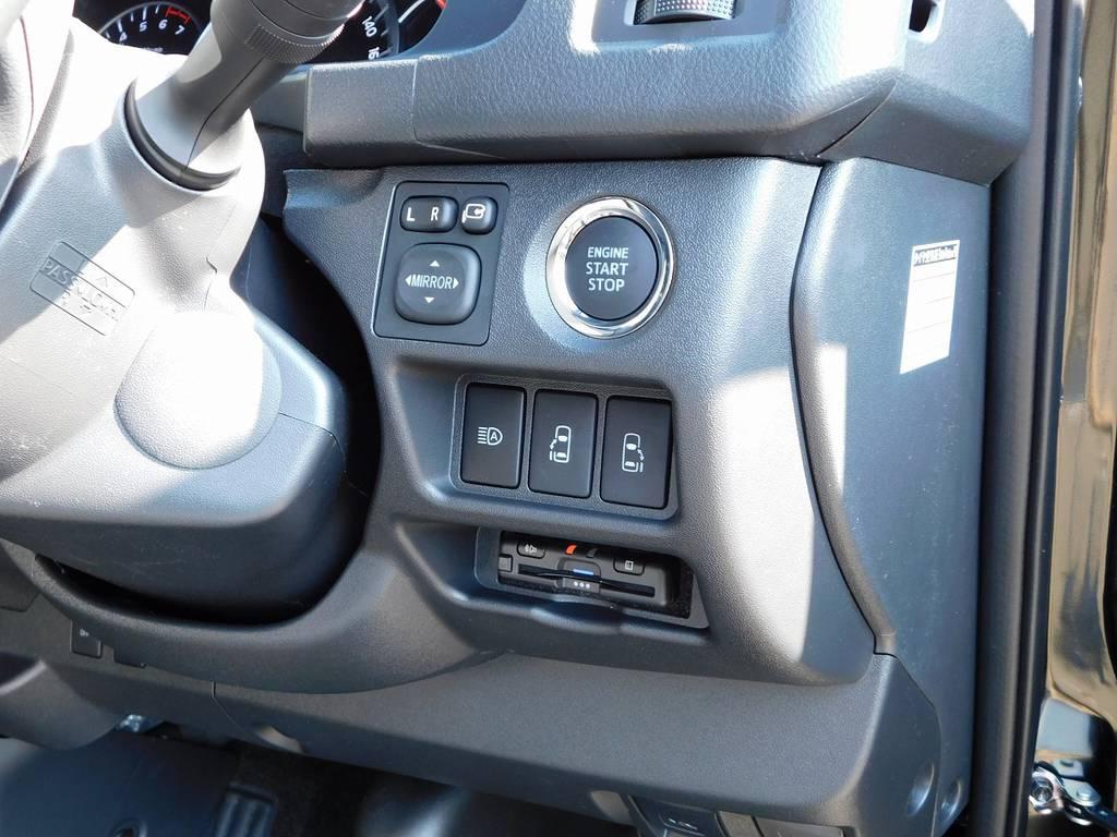 今どきETCは当たり前の装備ですねっ♪純正のように美しくインストール!隙間の処理も手は抜きませんよっ♪ | トヨタ ハイエースバン 2.0 スーパーGL ダークプライムⅡ ロングボディ ナビパッケージ車