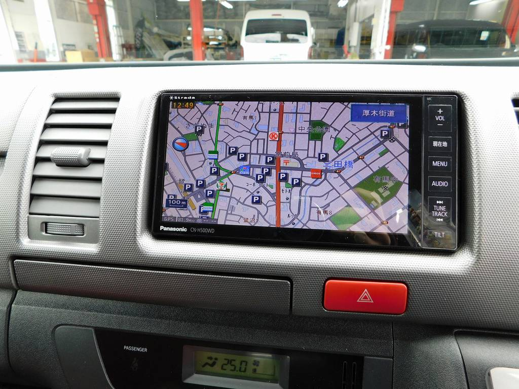 今どきナビは搭載されてて当たり前♪さぁどこへ出かけますかっ♪   トヨタ ハイエースバン 2.0 スーパーGL ロング 415コブラフルコンプリート車