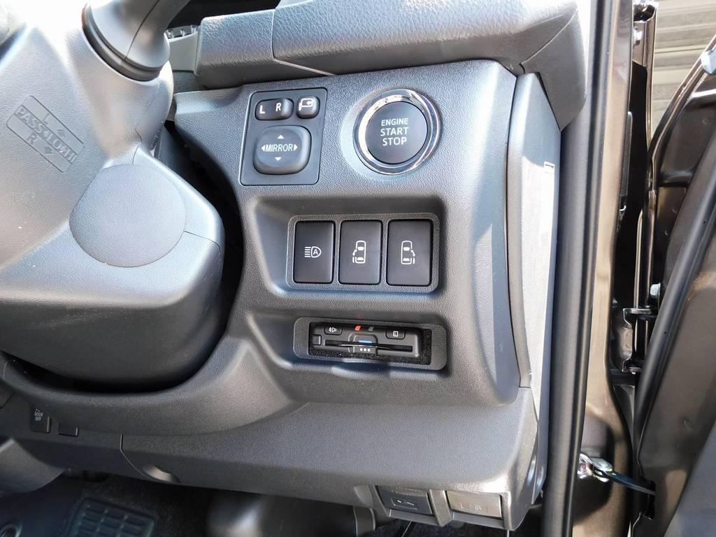 もちろんETCも装着済み♪純正のように美しくインストールされてます!隙間の処理も抜かりは御座いませんよっ♪ | トヨタ ハイエースバン 2.7 スーパーGL 50TH アニバーサリー リミテッド ワイド ミドルルーフ ロングボディ ライトカスタム仕様