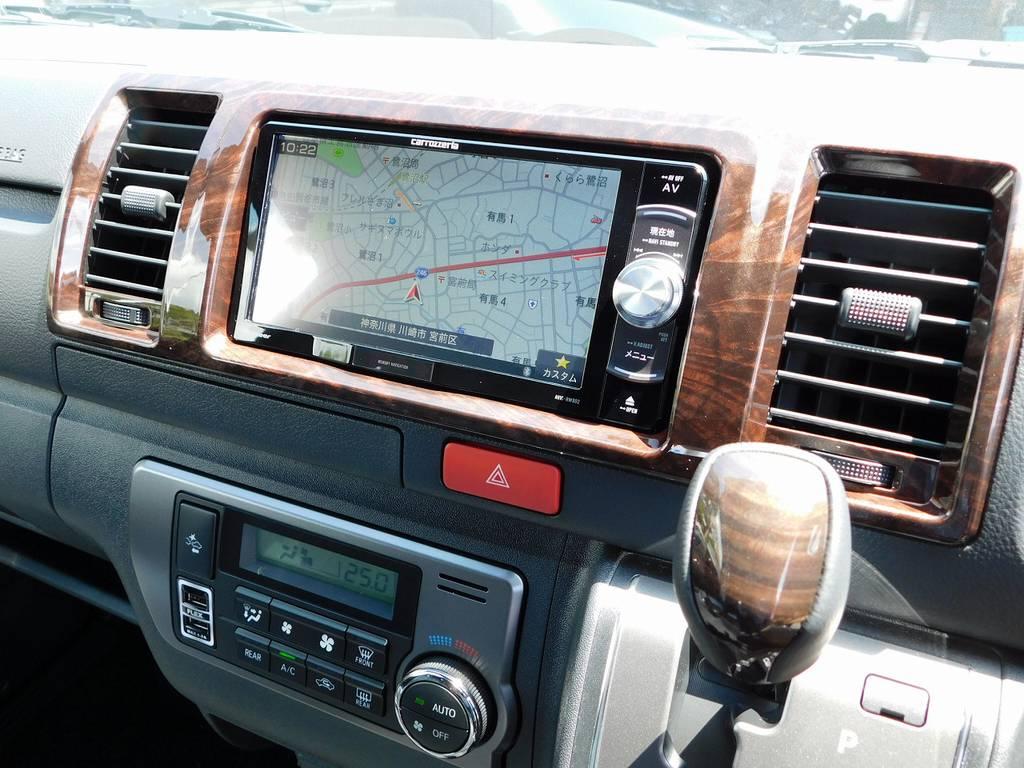 装着されているナビはカロッツェリア製♪地図の精度使いやすさで人気のすナビですよっ♪車両価格込みですので追加費用は頂きません♪   トヨタ ハイエースバン 2.0 スーパーGL 50TH アニバーサリー リミテッド ロングボディ ブラックエディション