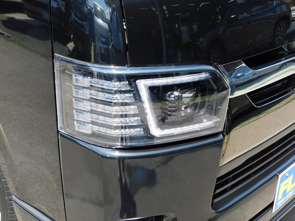 漆黒のヘッドライトはヴァレンティ製♪ウィンカーが流れるシーケンシャルタイプ♪個性的でインパクト大のヘッドライトですよっ♪