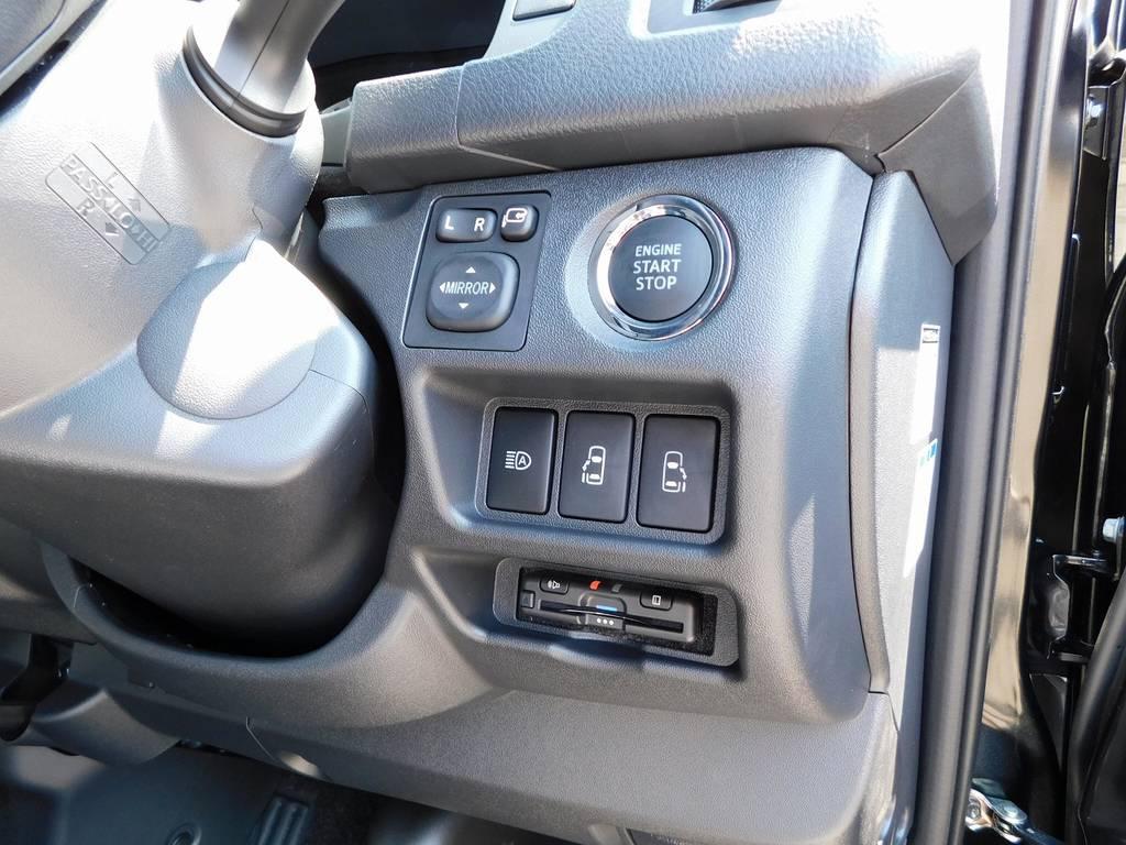 もちろんETCも装着済み♪純正のように美しくインストール!隙間の処理も抜かり無しですよっ♪ | トヨタ ハイエースバン 2.8 スーパーGL ダークプライムⅡ ロングボディ ディーゼルターボ ブラックカスタムパッケージ