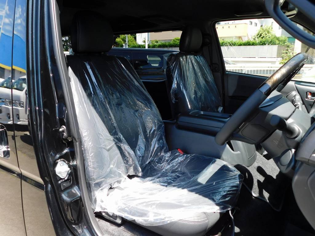 特別仕様車専用のハーフレザーシート!ノーマルモデルとは高級感が違いますよっ!!! | トヨタ ハイエースバン 2.0 スーパーGL ダークプライムⅡ ロングボディ ブラックナビパッケージ