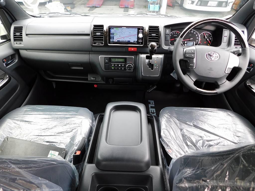 広々室内は座面も高く見晴らしも良くロングドライブも楽しくなりますよっ♪限定車専用内装で高級感もありますねっ♪
