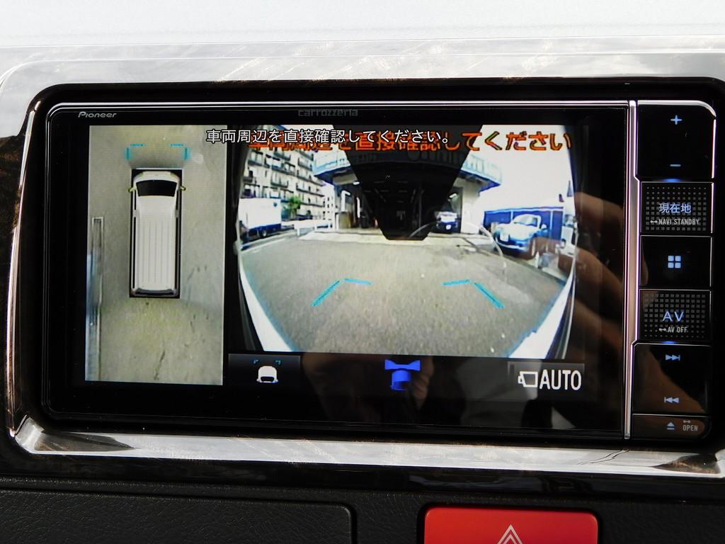 パノラミックビューモニターも付いておりますので駐車も楽々!!!フロント・サイドもカメラで確認可能です♪