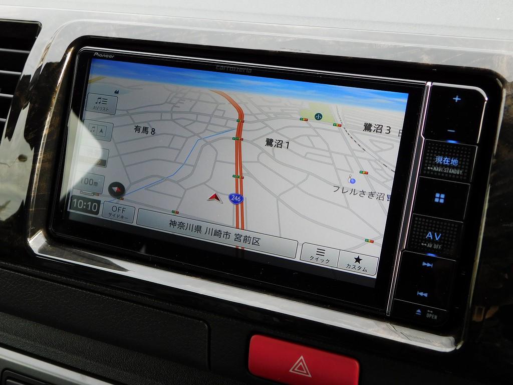 搭載されているナビはカロッツェリア製♪地図の見やすさとGPSの性能で人気のナビ♪もちろん車両価格込みですよぉ♪